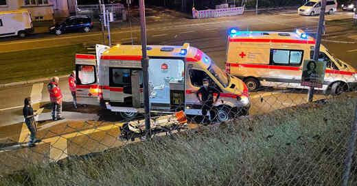 Deutsche Rotes Kreuz, DRK, Flüchtlingsunterkunft, Magen-Darm-Infektion, Krankenwagen, Rettungswagen, © DRK Freiburg
