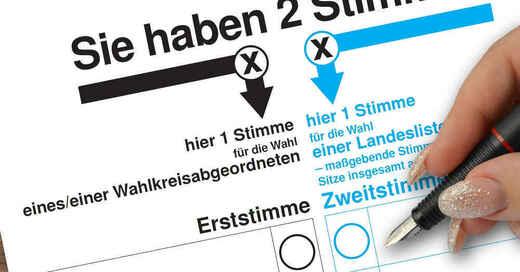 Bundestagswahl, Erststimme, Zweitstimme, Wahl, Stimmzettel, © Pixabay (Symbolbild)