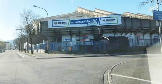 Echte Helden Arena, Eishalle, Eisstadion, Freiburg, EHC Freiburg, Eishockey, © baden.fm