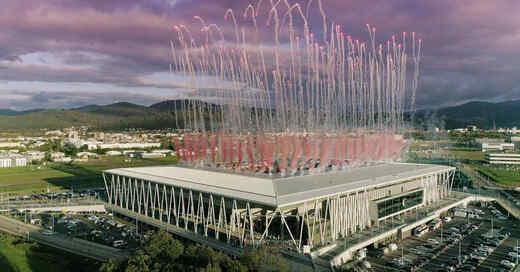 Europa-Park Stadion, Wolfswinkel, SC Freiburg, Eröffnung, Feuerwerk, Fußball, Stadion, Freiburg, © Europa-Park