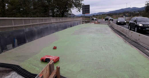 Sanierung, Baustelle, Neumagenbrücke, Brücke, Verkehr, Staufen, © Regierungspräsidium Freiburg