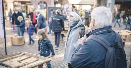 Familiensamstag, z'Friburg in der Stadt, Freiburg, Innenstadt, Altstadt, Aktionstag, Familien, © Janus Ruf / z'Friburg in der Stadt