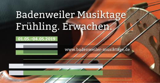 Badenweiler Musiktage 2019 - Kammerkonzert I, © © Veranstalter