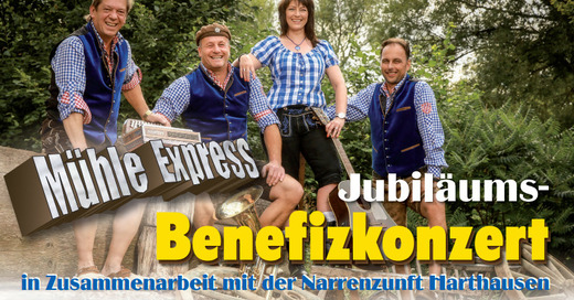 Jubiläums- Benefizkonzert in Zusammenarbeit mit der Narrenzunft Harthausen zu Gunsten der Kinderkrebsnachsorge Klinik Tannheim, © © Veranstalter
