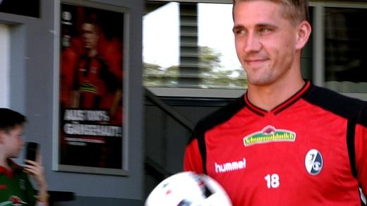 Nils Petersen, Training, SC Freiburg, © baden.fm