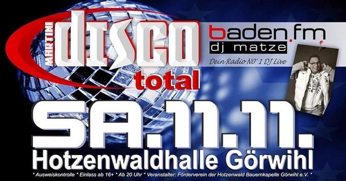 Martini-Disco total, Görwihl, Hotzenhalle, DJ Matze, © Veranstalter