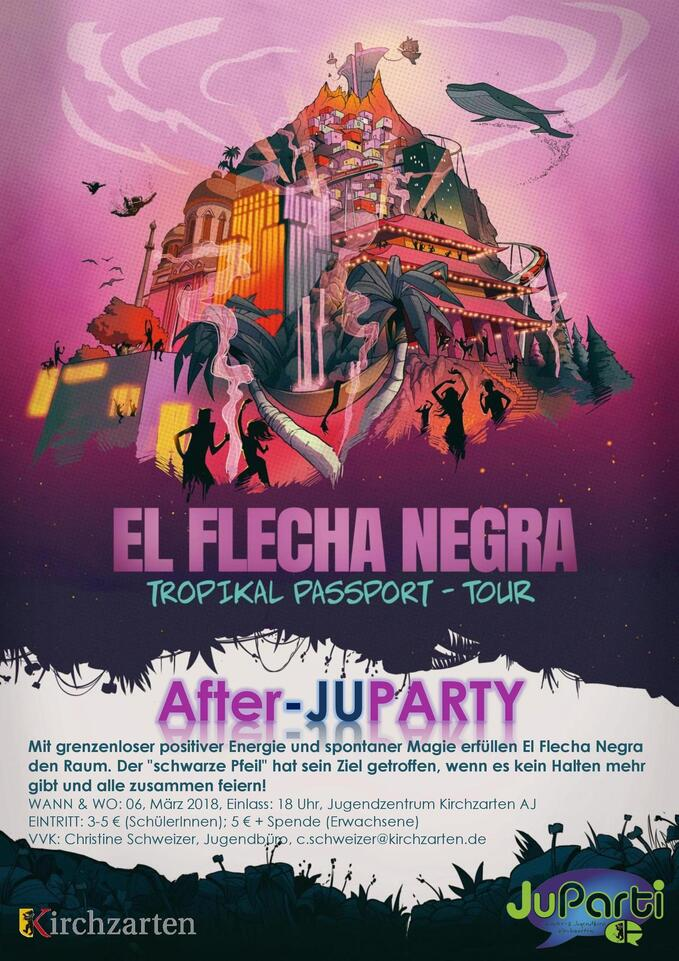 After-JuParty, Kirchzarten, Benefizkonzert, El Flecha Negra, © Veranstalter