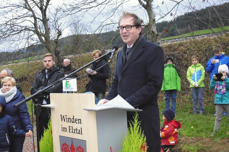 Alexander Dobrindt, Bundesverkehrsminister, Spatenstich, Winden, © baden.fm