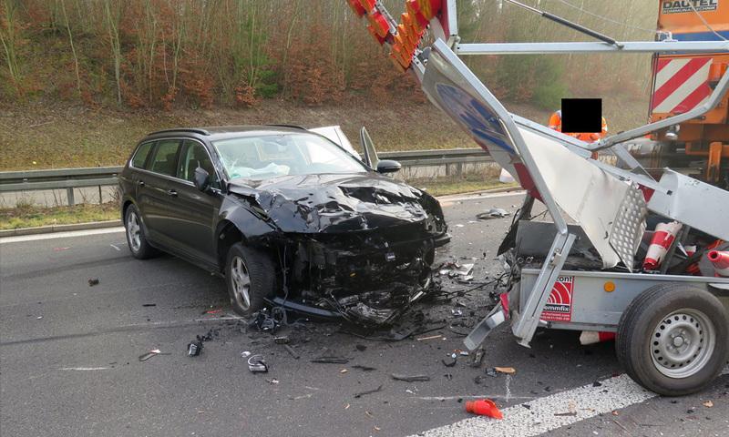 Unfall, A98, Blitzwand,, © Polizei