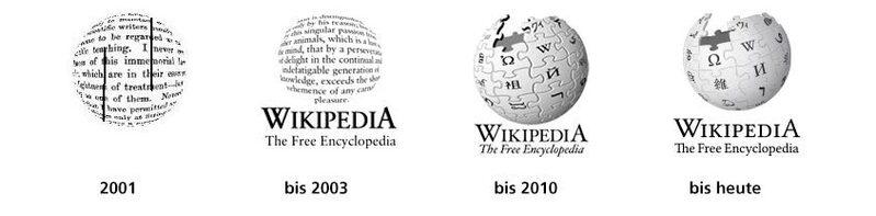 Logo, Wikipedia, Vergleich, © Wikimedia Foundation