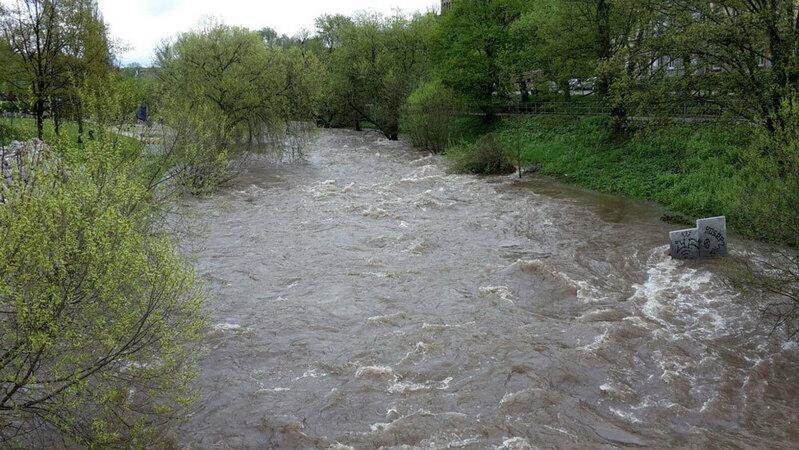 Hochwasser, Dreisam, © baden.fm