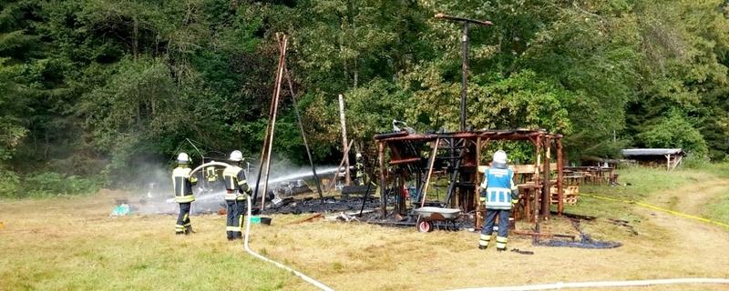 Zeltlager Feuer Explosion, © Polizeipräsidium Freiburg