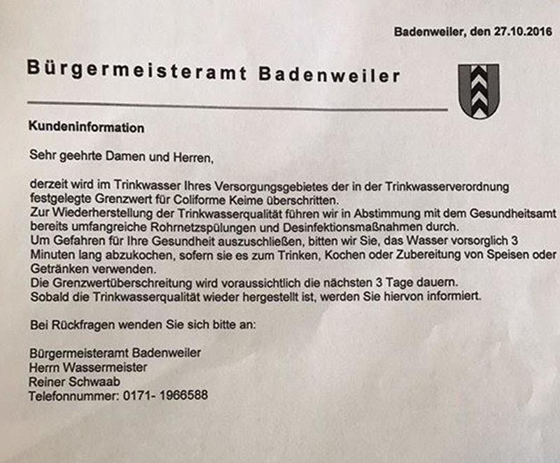 © Höhrerfoto / Bürgermeisteramt Badenweiler