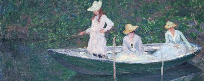 Claude Monet, In der Barke, © Hervé Lewandowski - RMN-Grand Palais (Musée d'Orsay)