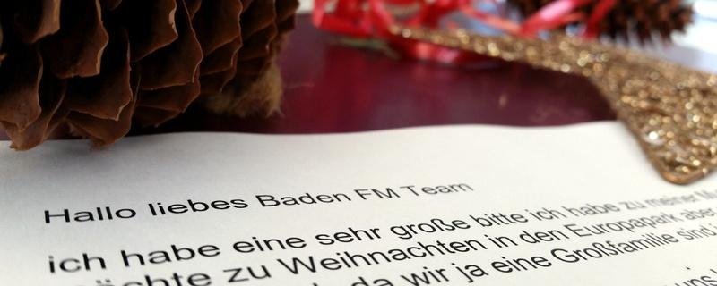 Weihnachten, Alina, Brief, © baden.fm