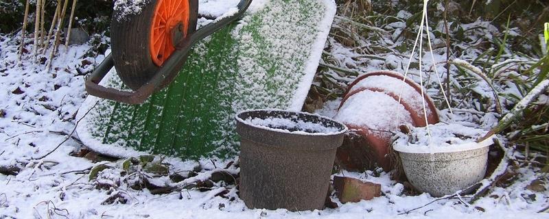 Garten, Winter, Schnee, © Pixabay