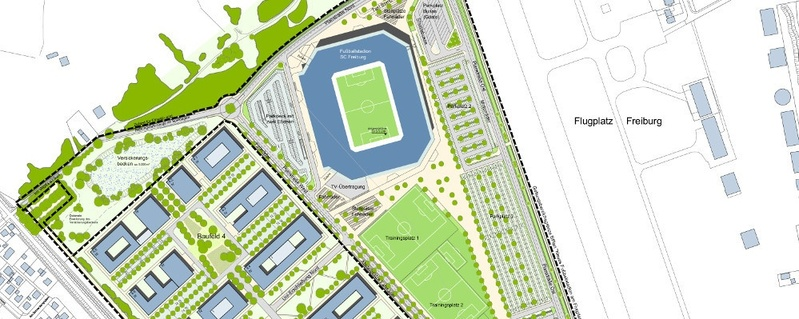 Stadion, Wolfswinkel, SC Freiburg, Stadion, © Stadt Freiburg (Konzeptzeichnung)