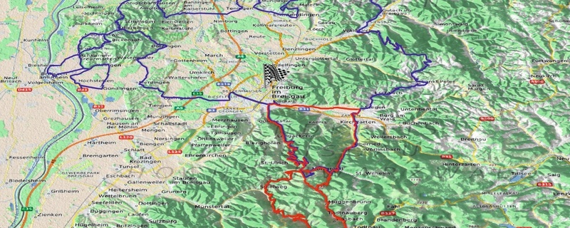 Karte, Route, Schauinsland Klassik, © ADAC Südbaden