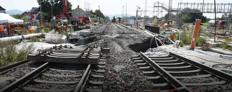 Rheintalbahn, Gleise, Fundament, © Uli Deck - dpa