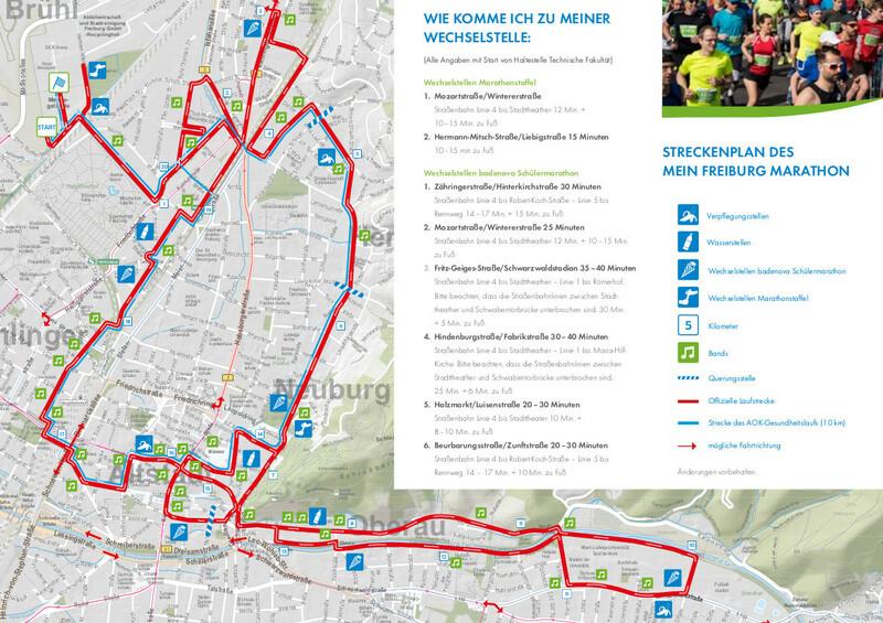Freiburg, Marathon, Streckenverlauf, © © FWTM