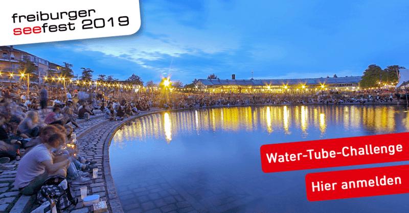 Das Freiburger Seefest 2019 mit Water-Tube-Challenge und Feuerwerk