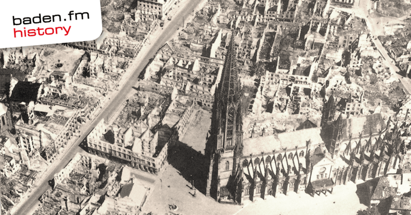 Freiburg nach dem Luftangriff im November 1944, © Public Domain; Stadtarchiv Freiburg