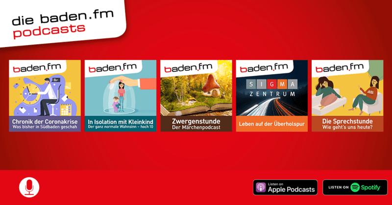 Die baden.fm Podcasts