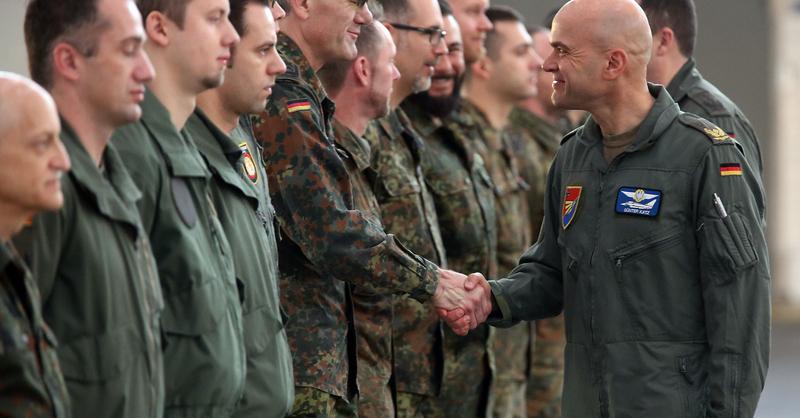 Verabschiedung Bundeswehrsoldaten Einsatz Syrien, © OLIVER_BERG_DP