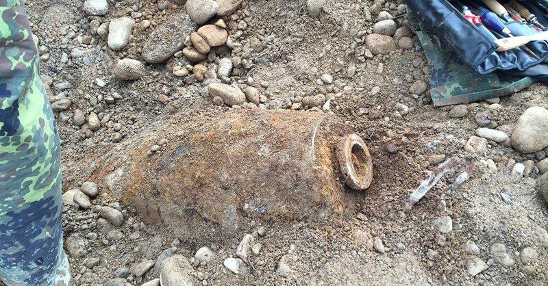 Weltkriegsbombe in Freiburg gefunden, © Polizei