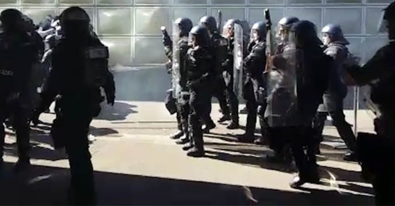 Basel, Zürich, Krawalle, Ausschreitungen, Polizei,, © Telebasel (Screenshot)