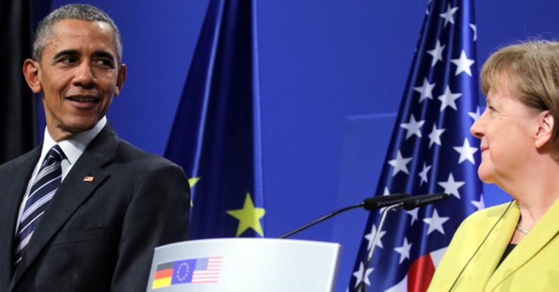 Barack Obama, Angela Merkel, USA, © Michael Kappeler - dpa