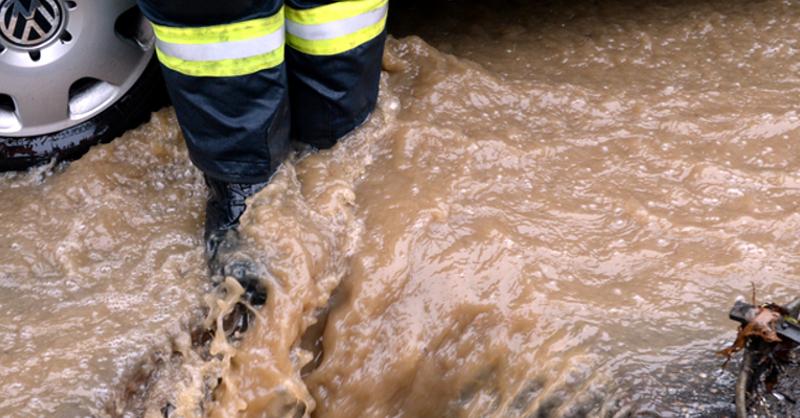 Hochwasser, Überschwemmung, © Patrick Seeger - dpa