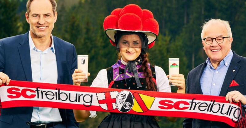 Schwarzwaldmilch, SC Freiburg, Hauptsponsor, © SC Freiburg