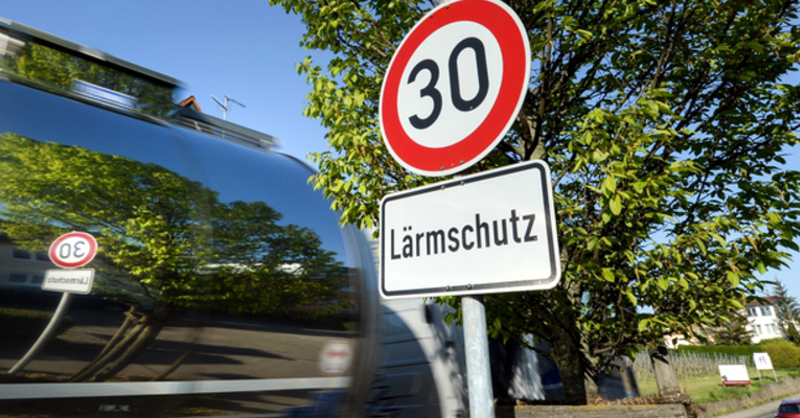 Lärmschutz, Tempo 30, © Felix Kästle - dpa