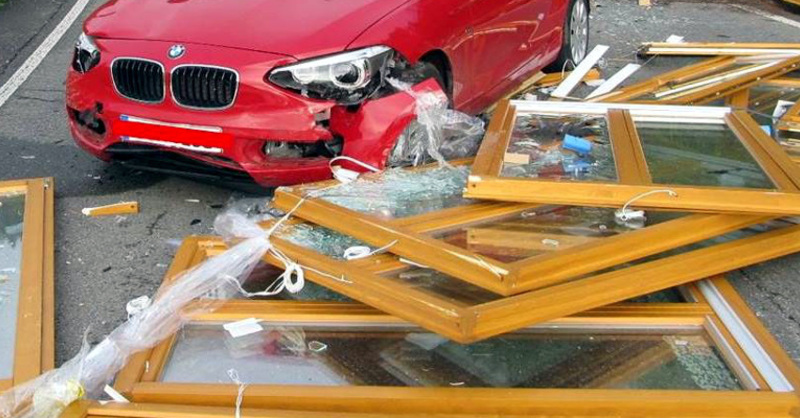 Unfall, Fensterscheiben, Oberwinden, © Polizeipräsidium Freiburg