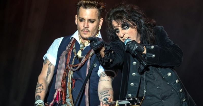 Johnny Depp, Alice Cooper, Vampires, © Andreas Arnold - dpa