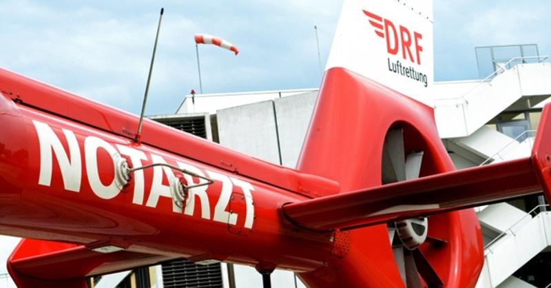 DRF Luftrettung, Rettungshubschrauber, Notarzt, © Franziska Kraufmann - dpa