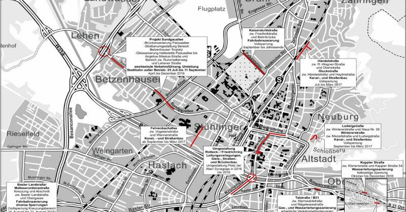 Sommerbaustellen, Baustellen, Freiburg, © Garten- und Tiefbauamt Freiburg