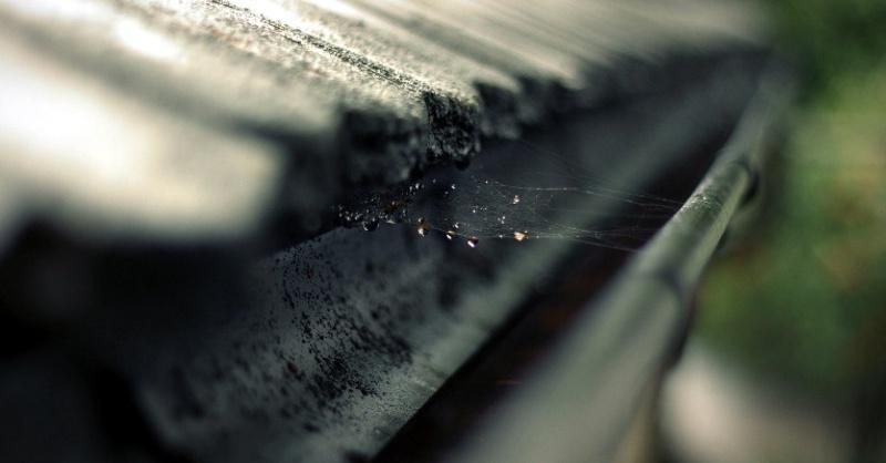 Dach, Ziegel, Regenrinne, © Pixabay