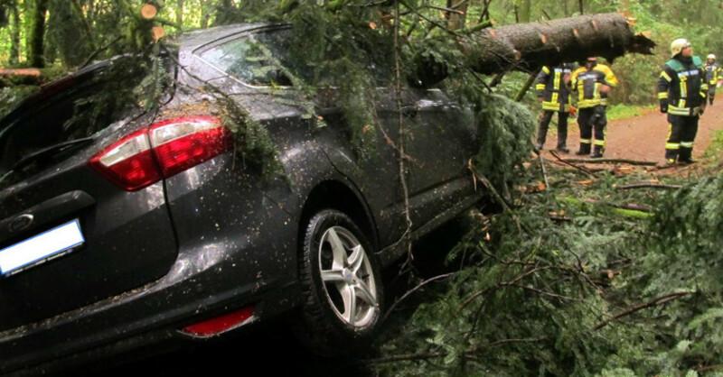 Auto, Unfall, Baum, © Polizeipräsidium Freiburg