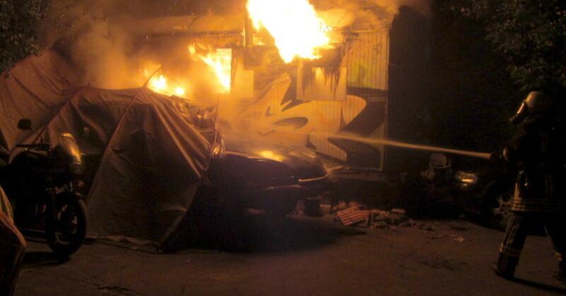 Feuer, Sauna, Staufen, © Polizei RW