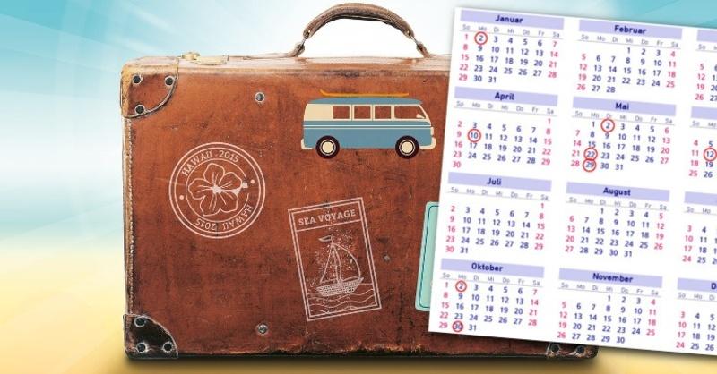 Kalender, Brückentage, Urlaub, © Pixabay