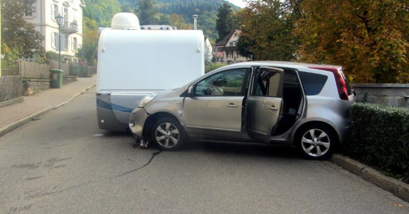 Unfall, Badenweiler, Wohnwagen, © Polizeipräsidium Freiburg