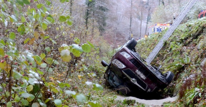 Unfall, Oltingen, Schweiz, © Kantonspolizei Basel-Landschaft