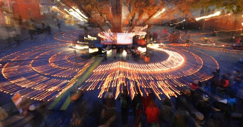 Caritas, Million Sterne, Kerzen, Lichter, © Patrick Seeger - dpa