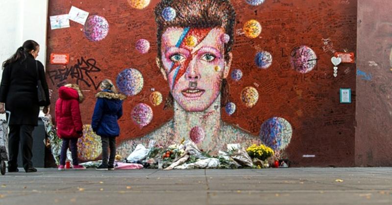 David Bowie, Graffiti, © Wolfram Kastl - dpa