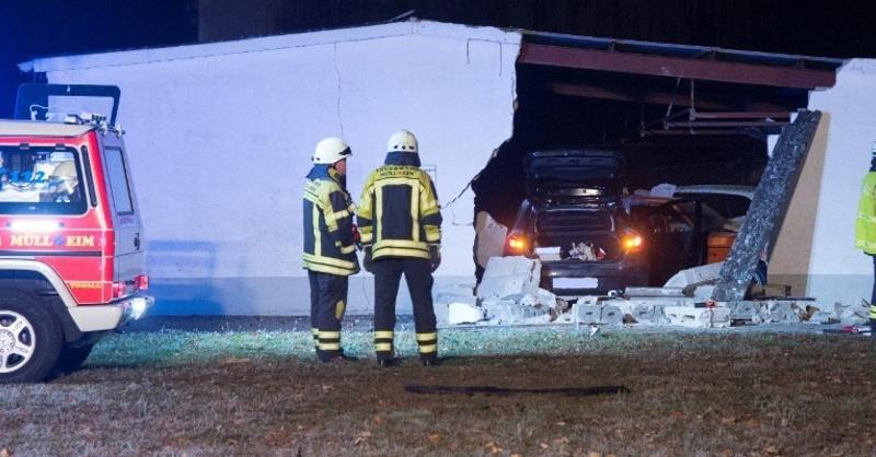 Müllheim, Garage, Unfall, © Polizeipräsidium Freiburg