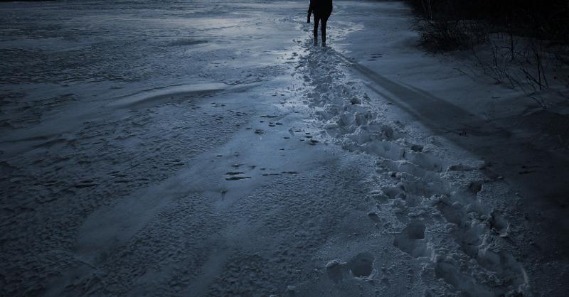 Schnee, Spuren, Nacht, © Pixabay