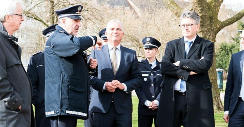 Polizei, Thomas Strobl, Dieter Salomon, © Polizeipräsidium Freiburg