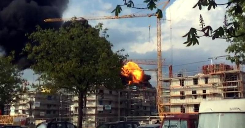 Explosion, Gutleutmatten, Brand, Feuer, © baden.fm